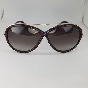 Tom Ford Butterfuly Sunglasses Havana Gold Frame